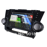 "NEW 8"" Toyota HIGHLANDER 2007-2011 dvd voiture Touchscreen WinCE 6.0 1080P GPS MAP RDS BT 3G IPOD CANBUS Steering wheel control"