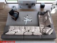KW1311- Feather high-grade sofa cloth art sofa beige cotton and linen contracted fashion and comfortable sofa