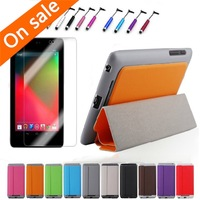 Slim Magnetic PU Leather Case Smart Cover + Film + Stylus for Google Nexus 7 1st Gen