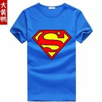 superman short-sleeve super man pattern t-shirt 100%cotton t shirt men's cotton superman  Children's  t shirt  superman T-shirt