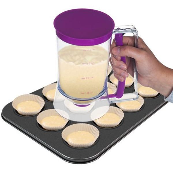 2015 NEW Baking Essentials dough Cupcake Batter Cake Dispenser Drop Grease distributor/Oil separator valve measuring cup Pancake(China (Mainland))
