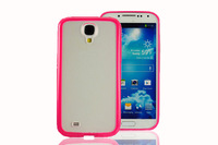 for samsung galaxy s4 case TPU + PC double-color case for samsung S4 9500 9508 frosted protection shell,free shipping