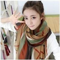 2013 New Korean Fashion Autumn Winter Women Scarves Striped Wraps 2 Colors For Choose