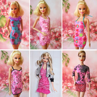 16 piece / lot  Doll Clothes New Fashion Wear Set Stylish Outfits for 11.5''  barbie Doll Super Star Free shipping Via epacket