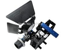 DSLR RIG Camera Cage set +Top Handle+15mm Aluminum Rod Block Plate+Follow Focus+Matte Box For Canon 5D Mark II  III 7D