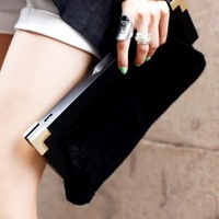 2013 bag women's handbag scrub day clutch female fashion chain bag women's clutch evening bag