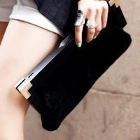 HOT SALE new 2014 women's handbag scrub day clutch bag female fashion chain bag women's clutch bags women evening bags