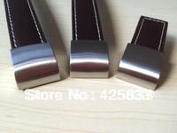 10pcs 128mm Brown  Leather Cabinet Hardware Pulls Kids Kitchen Drawer Dresser Closet Knobs Handle Wholesale