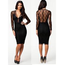 black knee length dress price
