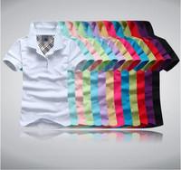 Brand women's short sleeve shirt Turn-down collar slim shirt female cotton casual shirt free drop shipping