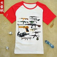 CF Crossing the line of fire The game Pure cotton Round collar Men's short sleeve T-shirt  Cross Fire Children's clothes