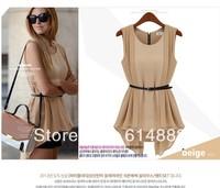 Free Shipping Summer Chiffon Shirt for Women Sleeveless Chiffon Blouses False Two Pieces SL02
