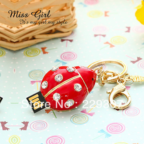 flying between light and small ladybug U disk flowers usb flash pen drive free shipping()