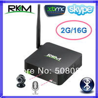 Rikomagic MK902 Android 4.2.2 TV Box Bluetooth 4.0 RK3188 Quad Core 2GB RAM 16GB ROM Built in 5.0MP Camera and Microphone XBMC