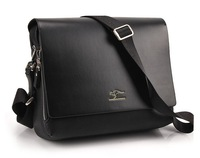 NEW Free Shipping High Quality Vintage Men Briefcase Business Bag Man Genuine Leather Bags Black Brown