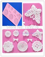 Wholesale !!1pcs Mini Butterfly etc.Bud Silk Lace (HY157) Silicone Handmade Fondant/Cake Decorating DIY Mold