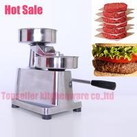 free shipping-130MM hamburger press,hamburger patty maker,hamburger mould,hamburger press machine,aluminum burger press