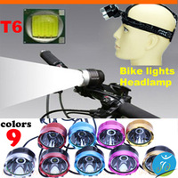 5 colors Super bright 1200 lumens CREE XM-L T6 bicycle Bike light ,adventure,Cycling lighting T6 headlights,free shipping