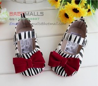 Free shipping new2013 explosion models chears foreign trade zebra baby toddler shoes girls shoes 11cm/12cm/13cm