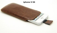 For apple iphone 5 5S 5G ipod touch 5 Pull Tab Bag Phone Pouch Case Leather Cover FA003