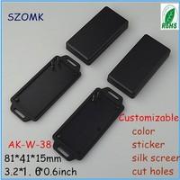 20  pieces a lot  2013 new wall mount enclosure  81*41*15mm 3.2*1.6*0.6inch   black small enclosures