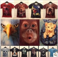 15Color M-L-XL-XXL High quality/free shipping/Three-dimensional animal 3Dt shirt/Cotton 3Dt shirt/O-Neck t shirt