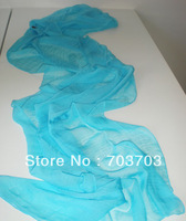 Ladies girles 100%silk Wraps Scarfs Long Soft solid plain 12pcs/lot#3515