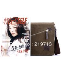 2014 Men's Vintage Bags Coffee Shoulder Bag Messenger Bags Casual Canvas Bag For Men