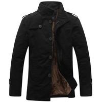 2014 New Arrival Korea Style Thicken Cotton Jacket, khaki\black\army , Free Shipping MWJ111