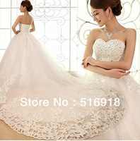 2013 elegant A Line Spaghetti strap Floor length Sweep Brush Sequin Beaded Swarovski crystals lace wedding dresses Bridal Gowns