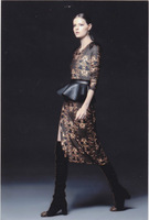 2014 New Spring Runway Show Lady Elegant Top Grade Printed Flower Slim Dress With Leather Belt Skirt,Luxury Brand,Sale12B5072