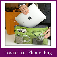 New bag make up organisers Storage inner bag for ipad/cosmetic phone bag travelling bag handbag Clutches pouch E-36