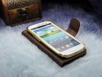 New 2014 hot sale luxury design luis fashion flip leather bag for samsung galaxy s3 i9300 case with card slot capa celular