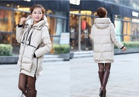 The new women's fashion winter long section of thick down jacket