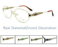 """Fiat Lux ""Original Brand Eyeglasses Frames for Glasses Women Optical in Real Diamond Rimless Titanium Free Shipping"