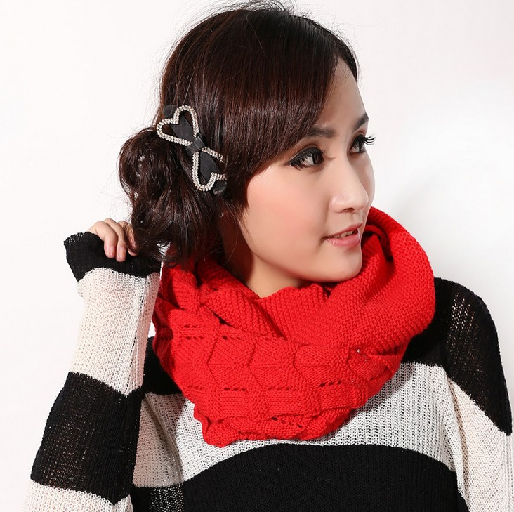 Waves scarf 2014 new autumn and winter wool scarf pullover lady scarf collars natural fur scarf(China (Mainland))
