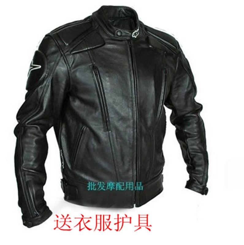 Dos homens livres do transporte passeio térmica tampa do carro motocicleta roupas de couro qualidade raça de automóvel couro PU casaco jaqueta / S-XXXL(China (Mainland))