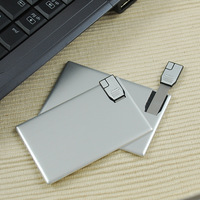 ultra-thin Card Usb Flash Drive 2GB 4GB 8GB 16GB 32GB 64GB Usb Memory Stick Pen Drive - Free printing LOGO