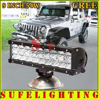9INCH 54W CREE LED LIGHT BAR FLOOD COMBO FOR OFF ROAD LED BAR IP67 4WD ATV UTV SUV LED WORK LIGHT BAR 36W