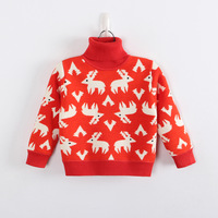 Boutique children's clothing boys fawn over India plus thick velvet warm turtleneck sweater children's clothing line