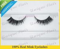 Free Shipping facory sell 40styles 4pcs/lot k018 Christmas promotion 100% real siberian mink fur false eyelash mink eyelashes