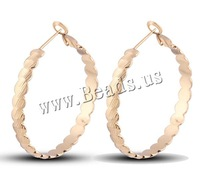 Free shipping!!!Brass,2013 fashion women, Donut, 18K gold plated, nickel, lead & cadmium free, 40mm, Sold By Pair