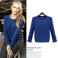 2014 autumn winter desigual brand Korean style warm knitted pullover women sweater DM132061