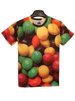 Free Shipping 2013 New Fashion Summer 3d Candy Printed T shirt For Men and Women Summer Novelty Tees