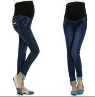 Maternity Jeans Print  Pant Skinny Elastic Waist Denim Maternity Pants & Capris Pencil Pants new 2014 Maternity clothing fashion