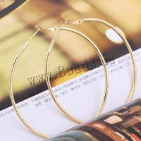 Free shipping!!!Brass,2013 designers for men, Donut, 18K gold plated, nickel, lead & cadmium free, 65mm, Sold By Pair
