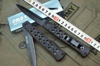 Cold Steel 26SB Black version tactical folding knife ABS handle outdoor camping survival tools knives 420A blade