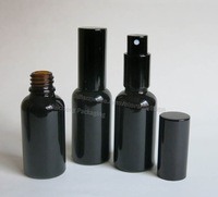 (DHL)Free Shipping - 200 x 30ml Black Glass Essential Oil Bottle With Aluminum Sprayer.1oz Glass Essential Container