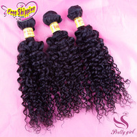 Free Shipping 5A Unprocessed Malaysian Virgin Hair Curly Human Hair Extensions 3pcs Lot Mix Length Queen Hair Products
