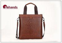 Briefcase Genuine Leather Shoulder Bags Men Handbags Business Bag Brown Purses Messenger BH20122+Free Shipping